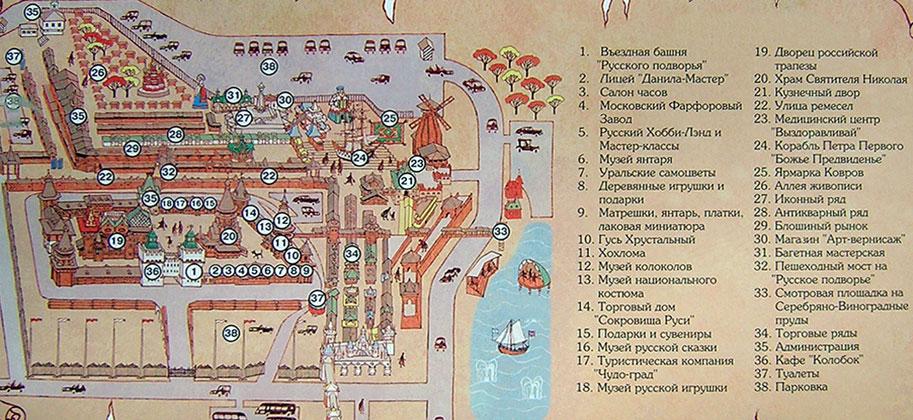 Схема Измайловского кремля -